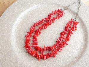 Kaorissima 珊瑚のネックレス